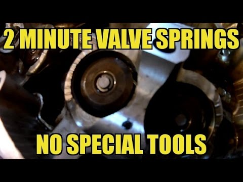 Remove and Reinstall Valve Spring in Less than 2 Minutes! NO SPECIAL TOOLS