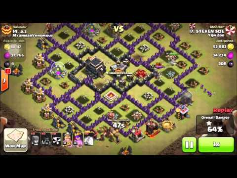 Clash of Clans Replays (Myanmar Players)