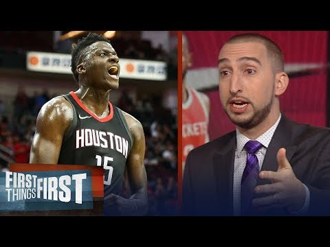Nick Wright: Clint Capela is responsible for elevating Harden, Paul's Rockets | FIRST THINGS FIRST