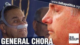 Comandante do Exército, General Villas Bôas se emociona e chora diante de fala de Bolsonaro sobre..