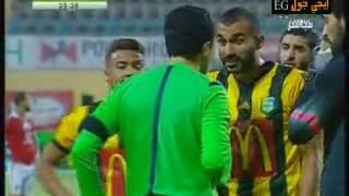 فيديو| حكم مباراة الأهلى يطرد ثنائى المقاولون بعد 23 دقيقة