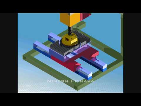 UNIVERSAL MILLING SWIVEL HEAD ANIMATION VIDEO