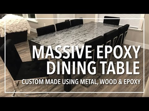 Massive Epoxy Dining Table | Custom Made from Scratch using Metal, Wood and Epoxy Resin