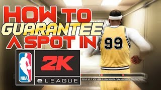 How to Guarantee a Spot in 2K League