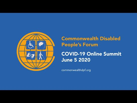 Commonwealth Disabled People's Forum COVID-19 Summit June 2020