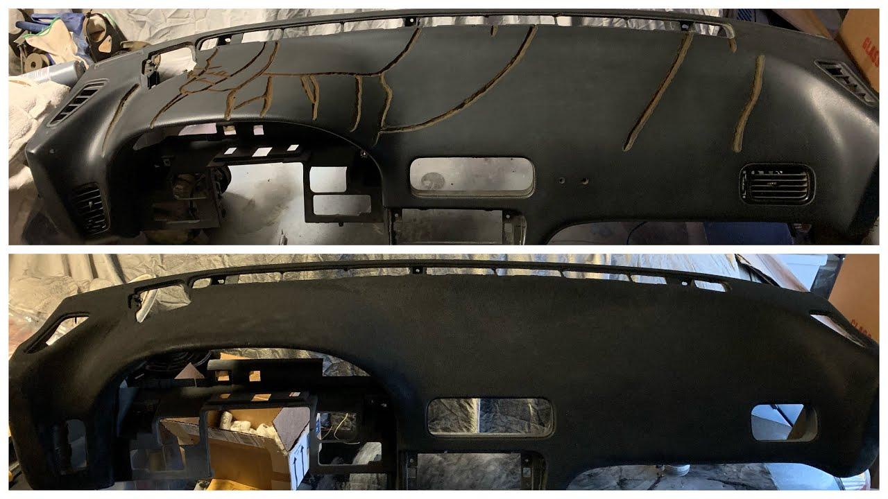 240SX S13 Cracked Dash Repair & Flock