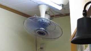hd版 三洋電機天井旋回扇 1 ナショナルオート扇f l401jでした orbit ceiling fan