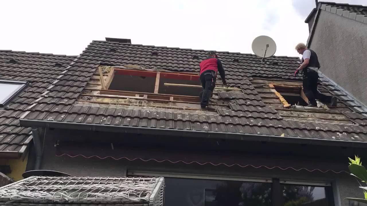 dachfenster einbau mit wechsel - youtube