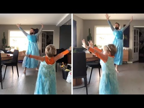 JT - Dad Dances to Disney Song for Son
