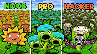 Plants vs Zombies! (NOOB vs PRO vs HACKER)