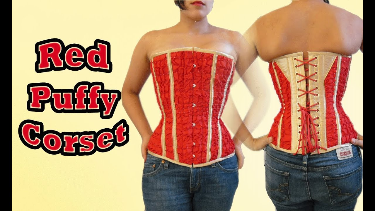 697faa7758 Case Study  Red Gold Puffy Corset