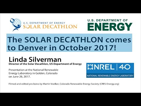 The Solar Decathlon is coming to Denver!