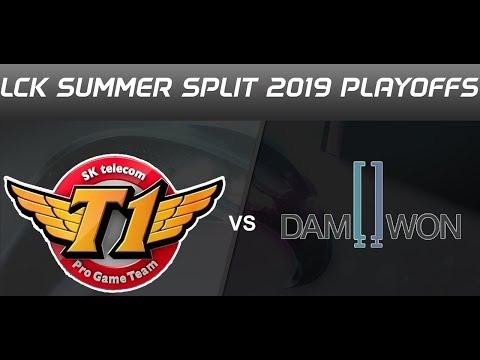 SKT VS DWG LCK Summer 2019 Playoffs highlights SK Telecom T1 vs DAMWON Gaming All Games highlights N