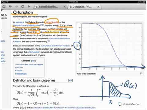 Normal distribution, Phi function, Q function