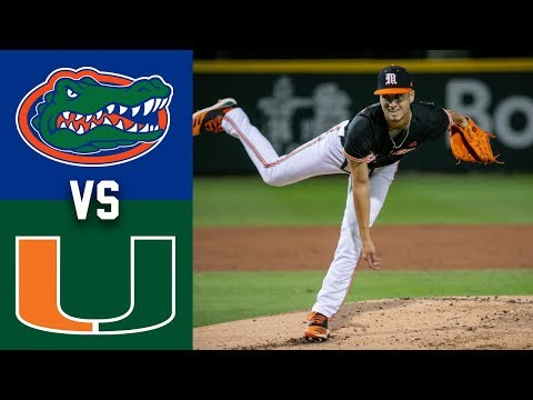 #10 Florida Vs #7 Miami Highlights | Game 1 | 2020 College Baseball