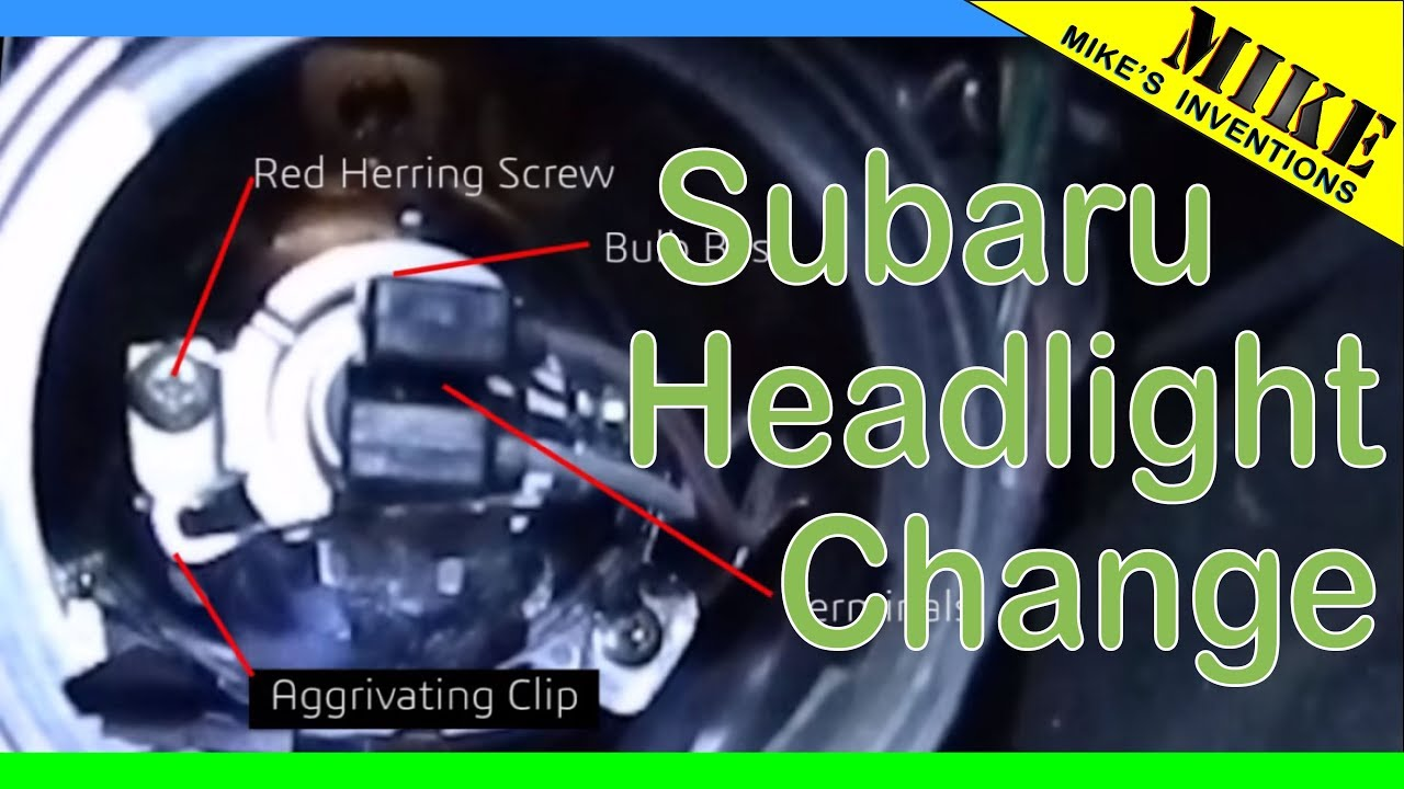 Change a headlight on a subaru tribeca youtube vanachro Gallery