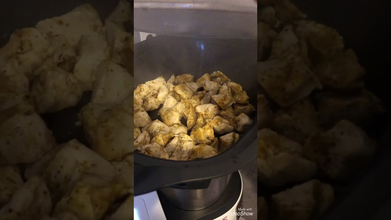 poulet au curry moutarde monsieur cuisine
