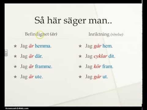 Adverb på svenska-svenska