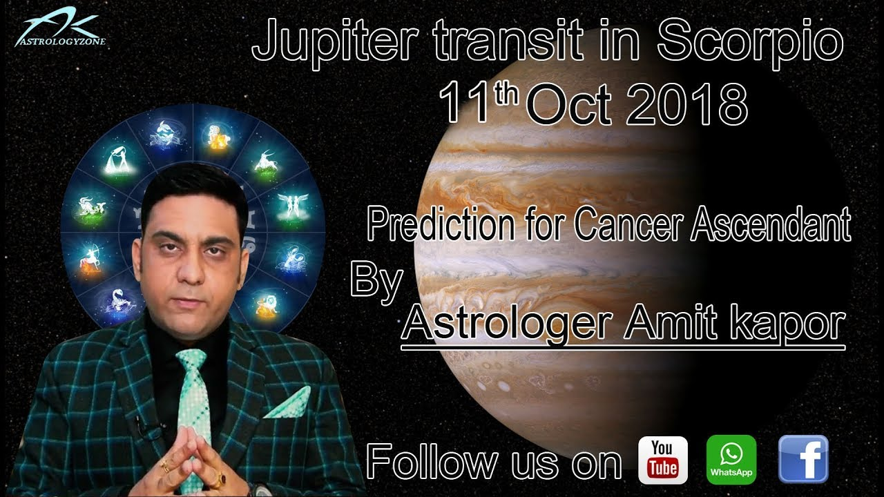 Jupiter transit in Scorpio from 11th Oct to 5th Nov 2019 for Cancer
