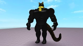 SIR MEOWS A LOT GETS BUFF IN ROBLOX! (Roblox Movie)