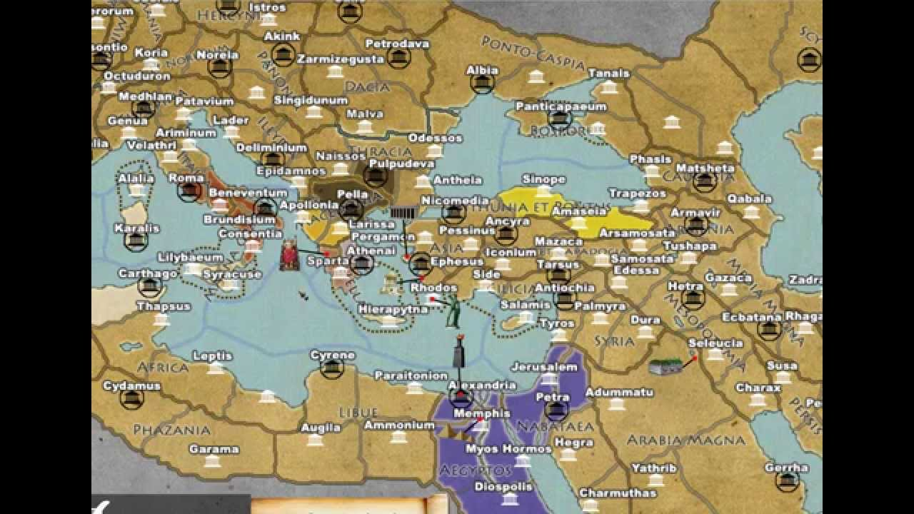 Rome Map YouTube - Rome total war map city locations