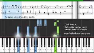 ♫ Teri Galiyan - Ek Villain (Piano Tutorial + Music Sheet + MIDI) -- Dhruv Gandhi