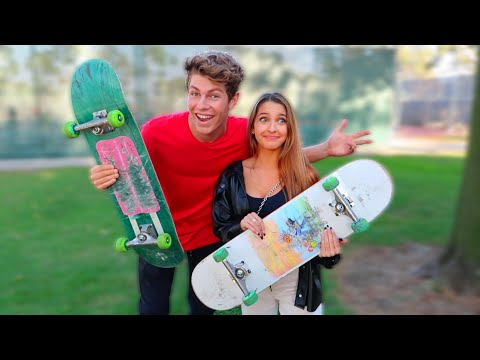 Teaching Lexi How To Skateboard!