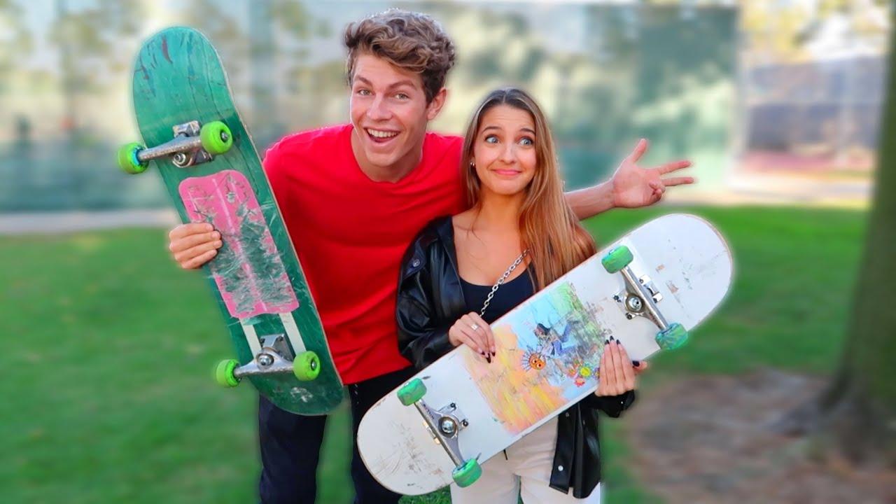 Teaching Lexi How To Skateboard!