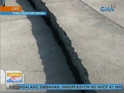 UB: Tagbilaran, Bohol Port, nagkaroon ng crack dahil sa lindol