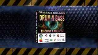 DRUM N BASS DRUM LOOPS   WAVE / MIDI   QUASARSOUNDS.COM