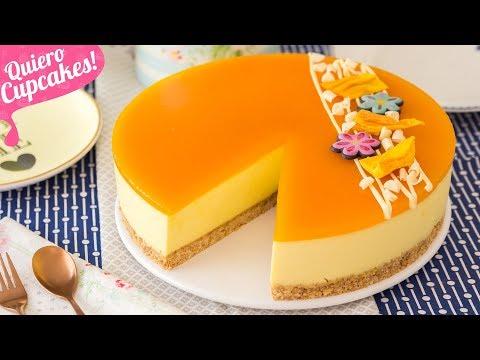 TARTA DE MANGO | POSTRE SIN HORNO | Quiero Cupcakes!