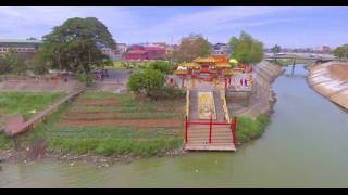CHINESE TEMPLE DRONE FOOTAGE