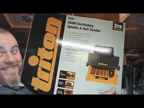 Unboxing Triton 450w Oscillating spindle sander