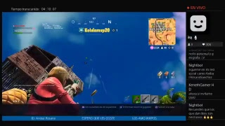 PLAYING ONLY WITH TEAM ZTE FORTNITE live direct Spanish free Ps4