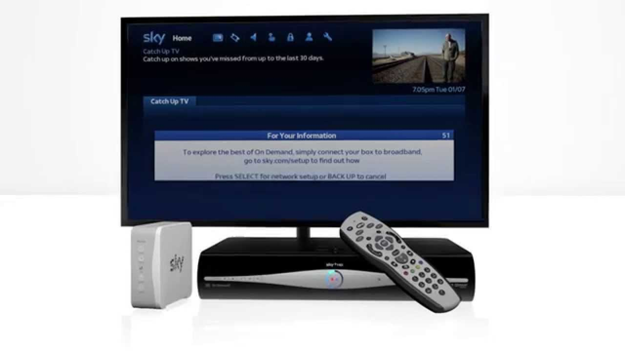How to connect your Sky+ box to your internet