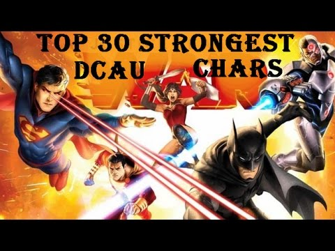 Top 30 Strongest DC Animated Movies Characters