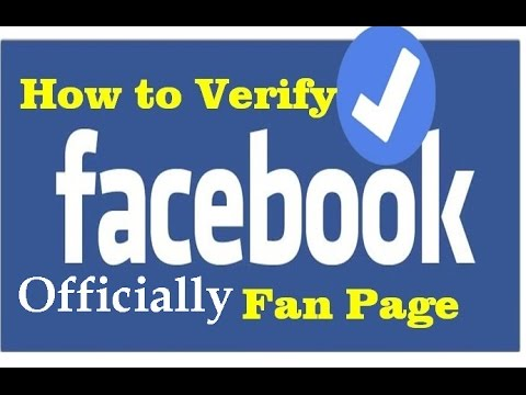 how to verify facebook fan page officially