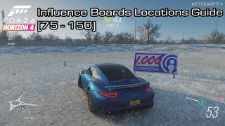 Forza Horizon 4 - Influence Boards Locations Guide [76-150]