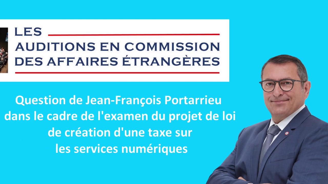 JEAN-FRANCOIS PORTARRIEU - CAE - Taxe sur les services numériques - 190327