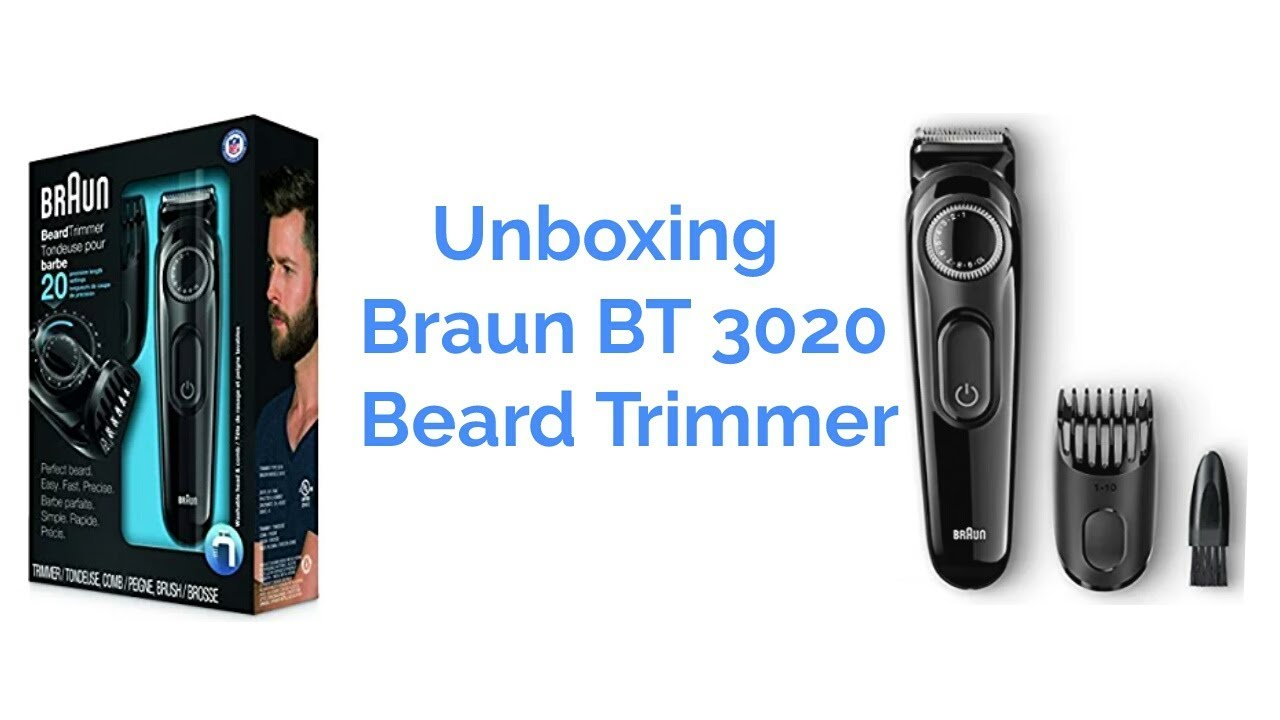 Unboxing Braun BT3020 Beard Trimmer - YouTube d83dbd26366