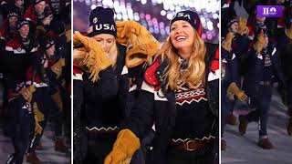 Team USA at the Opening Ceremony of the 2018 Winter Olympics