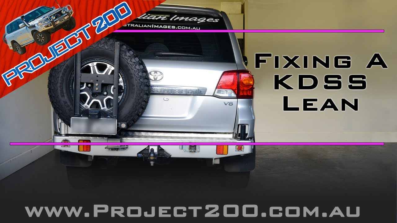 Fixing a KDSS lean or balancing KDSS - LC200 Landcruiser lean