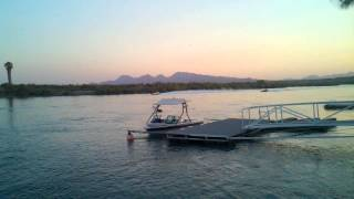 Q n Family Fathers Day 2015 Parker Big River Jet Boats at Sunset