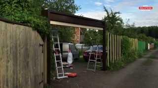 видео Автоматические гаражные ворота в Москве