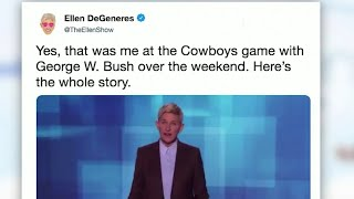 Mixing it up with CJ: Ellen and President George W. Bush; Beyonce's father fights cancer