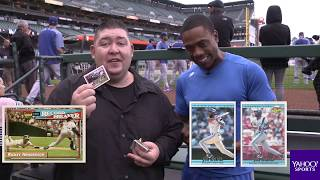 Dodgers Curtis Granderson opens 25-year-old baseball cards