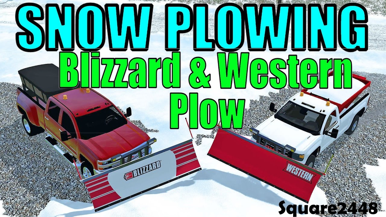 hight resolution of fs17 snow plowing with gmc chevy blizzard western snow plows youtube