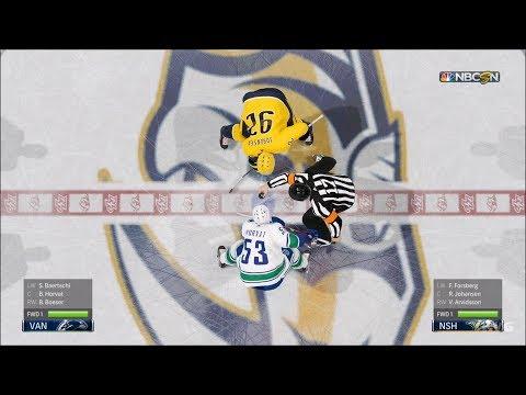 NHL 19 - Nashville Predators vs Vancouver Canucks - Gameplay (HD) [1080p60FPS]