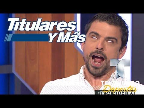Jorge Luis Moreno actúa en los Retos y Más  Titulares y Más  Telemundo Deportes