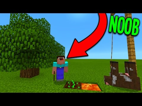 How To Farm Like a NOOB in Minecraft Pocket Edition (REALMS SMP #4)